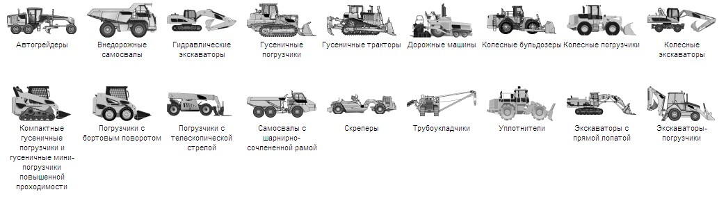 Классификация дорожной техники